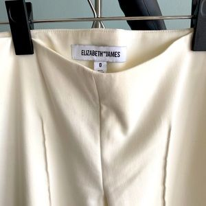 Elizabeth and James white cropped ankle pants sz 0